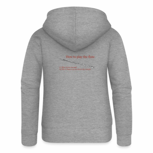 How to play the flute by artist Jon Ball - Women's Premium Hooded Jacket