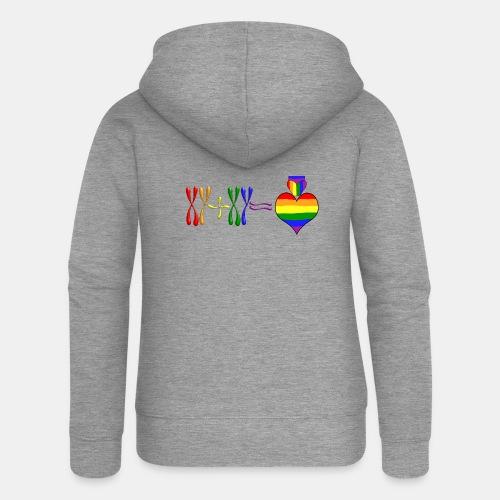 Cromosoma gay XY - Chaqueta con capucha premium mujer