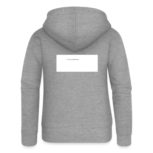 eat sleep sing - Women's Premium Hooded Jacket