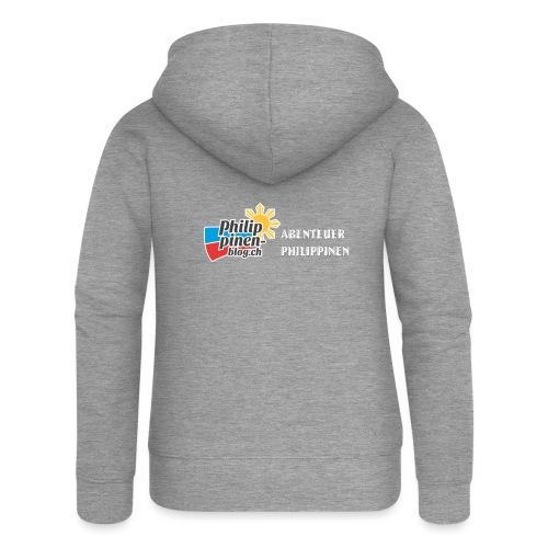 Philippinen-Blog Logo deutsch schwarz/weiss - Frauen Premium Kapuzenjacke