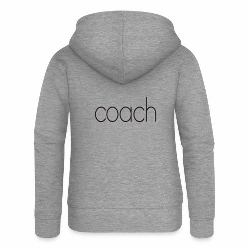 coach text - Frauen Premium Kapuzenjacke