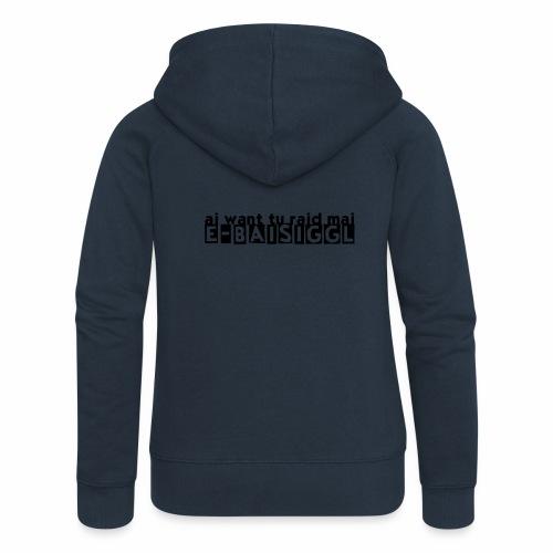 E-BAISIGGL (Pedelec-Edition) - Frauen Premium Kapuzenjacke