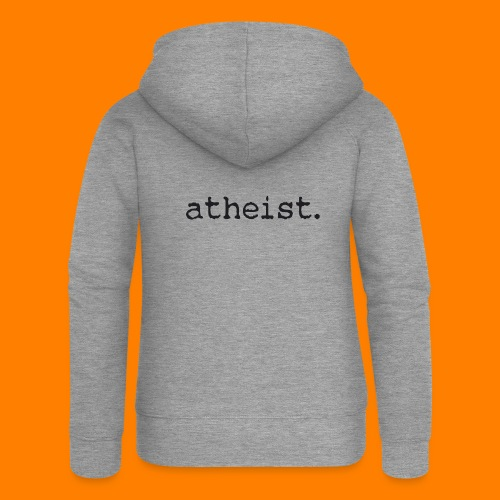 atheist BLACK - Women's Premium Hooded Jacket
