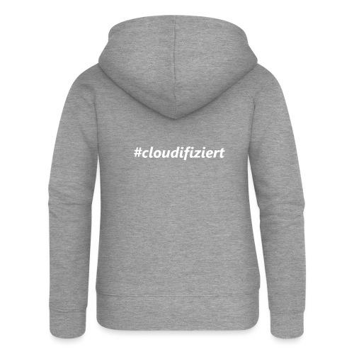 #Cloudifiziert white - Frauen Premium Kapuzenjacke