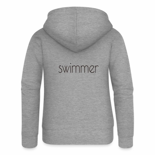 swimmer text - Frauen Premium Kapuzenjacke