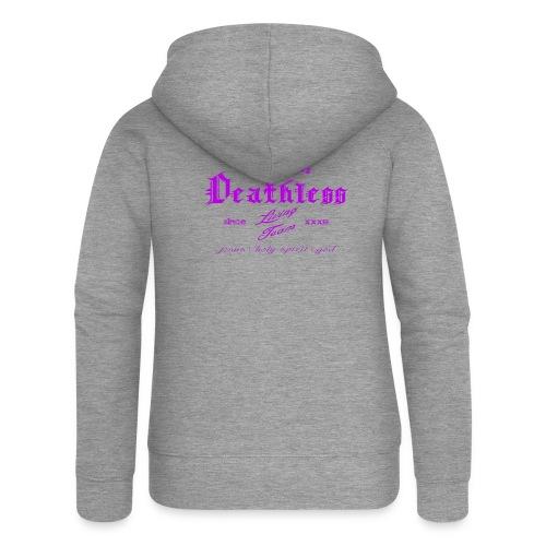 deathless living team violet - Frauen Premium Kapuzenjacke