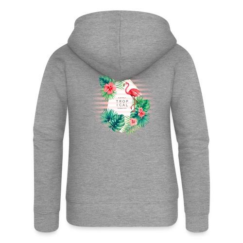 flamingo4 - Rozpinana bluza damska z kapturem Premium