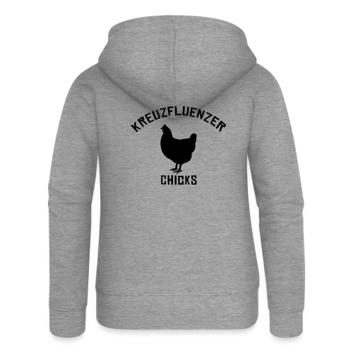 Kreuzfluenzer Chicks BLACK - Frauen Premium Kapuzenjacke