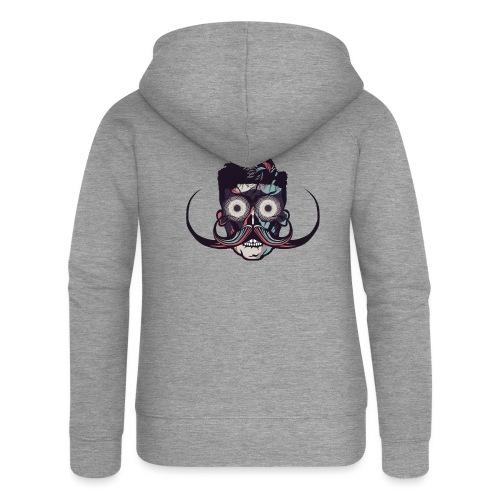 hipster tete de mort crane barbu skull moustache b - Veste à capuche Premium Femme