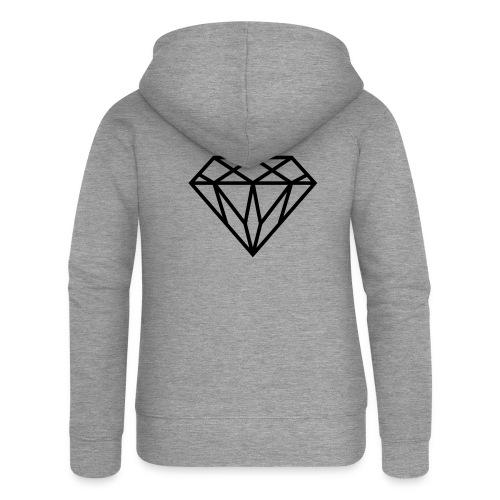Diamond Graphic // Diamant Grafik - Frauen Premium Kapuzenjacke