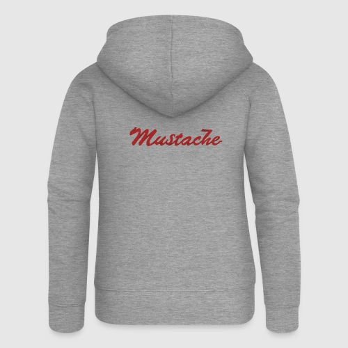 Red Mustache Lettering - Women's Premium Hooded Jacket