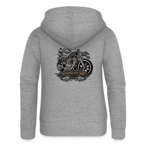 moto - Felpa con zip premium da donna