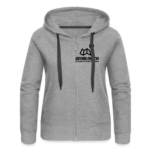 Logo+Schriftzug-hoch - Frauen Premium Kapuzenjacke