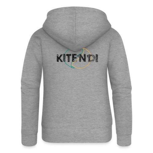 Front Kitesurf Passion - Felpa con zip premium da donna