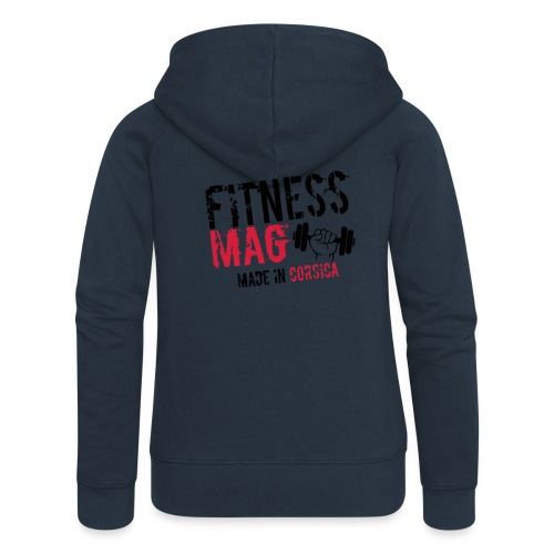 Fitness Mag made in corsica 100% Polyester - Veste à capuche Premium Femme