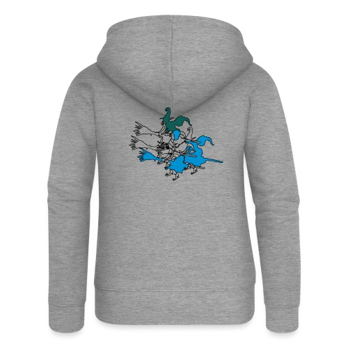 Witches on broomsticks Men's T-Shirt - Women's Premium Hooded Jacket