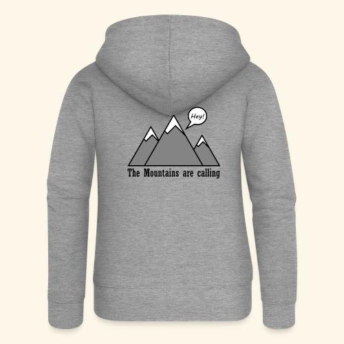 mountains calling - Frauen Premium Kapuzenjacke