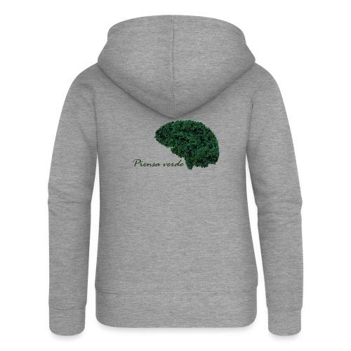 Piensa verde - Chaqueta con capucha premium mujer