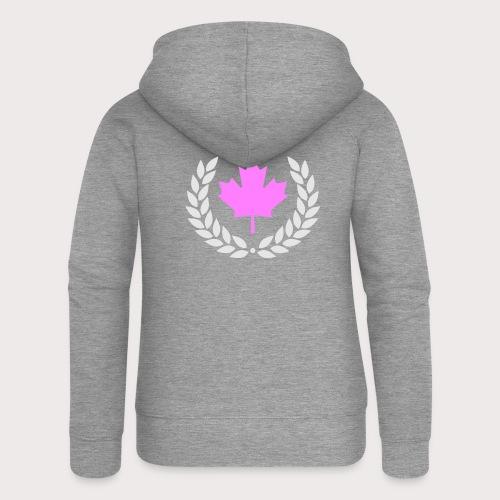 Canada Pink - Frauen Premium Kapuzenjacke