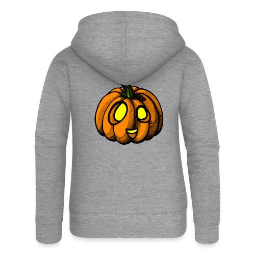 Pumpkin Halloween scribblesirii - Women's Premium Hooded Jacket