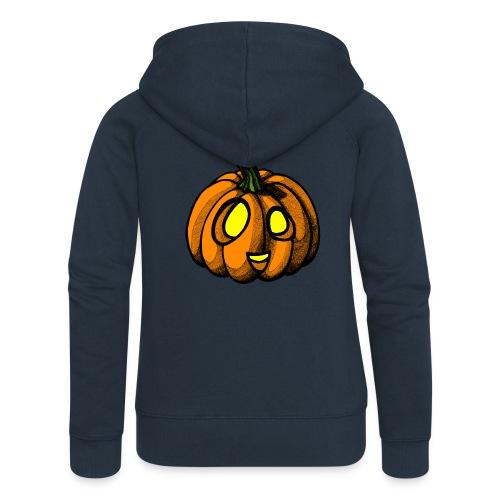 Pumpkin Halloween scribblesirii - Naisten Girlie svetaritakki premium