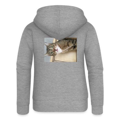 Kotek - Rozpinana bluza damska z kapturem Premium
