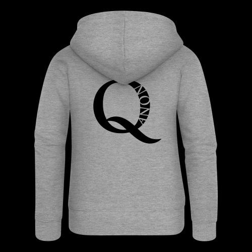 Q Anon Q-Anon Original Logo - Frauen Premium Kapuzenjacke