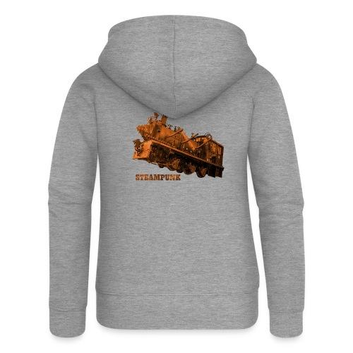 Steampunk Lokomotive Neuseeland - Frauen Premium Kapuzenjacke