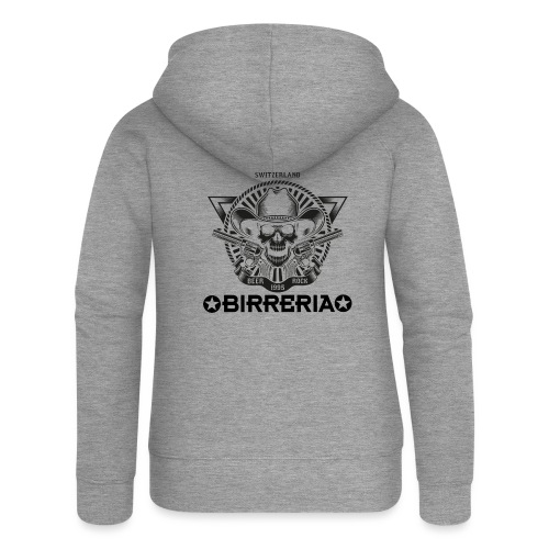 Sheriff Skull with Revolver - Frauen Premium Kapuzenjacke