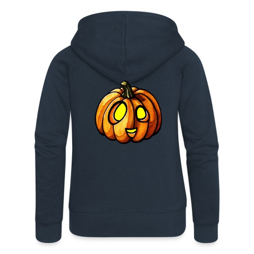 Pumpkin Halloween watercolor scribblesirii - Naisten Girlie svetaritakki premium