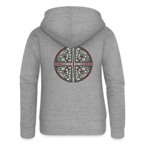 Archangel Michael Disc - Women's Premium Hooded Jacket