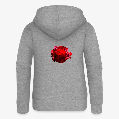 Red Rose - Frauen Premium Kapuzenjacke
