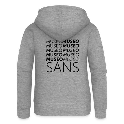 museo sans - Women's Premium Hooded Jacket