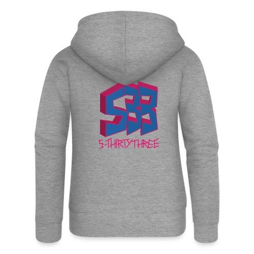 S33 Logo blaupink - Frauen Premium Kapuzenjacke
