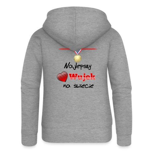 nadruk_rodzinne_03 - Rozpinana bluza damska z kapturem Premium