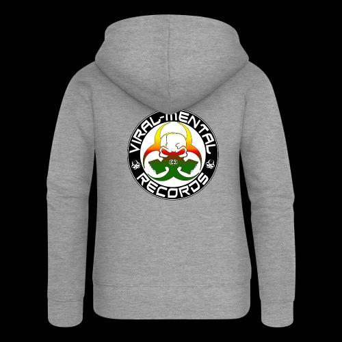 Viral Mental Records Logo - Women's Premium Hooded Jacket
