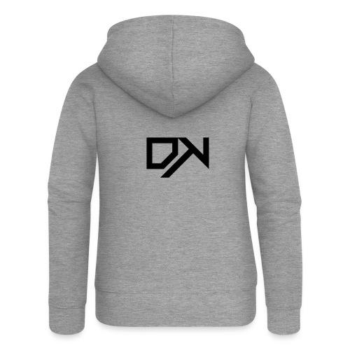 DewKee Logo T-Shirt Black - Women's Premium Hooded Jacket