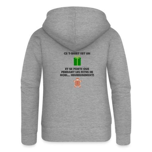 T-shirt cadeau de Noël - Veste à capuche Premium Femme