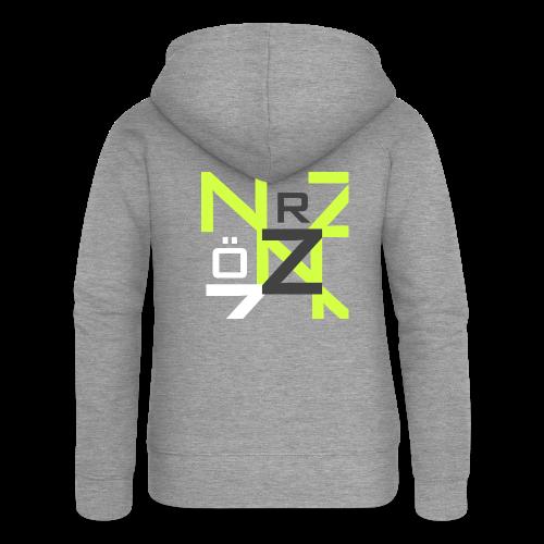 Nörthstat Group™ Clear Transparent Main Logo - Women's Premium Hooded Jacket