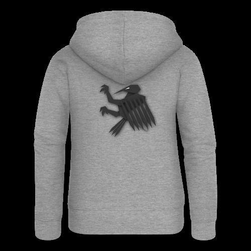 Nörthstat Group ™ Black Alaeagle - Women's Premium Hooded Jacket