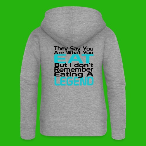 You Are What You Eat Shirt - Women's Premium Hooded Jacket
