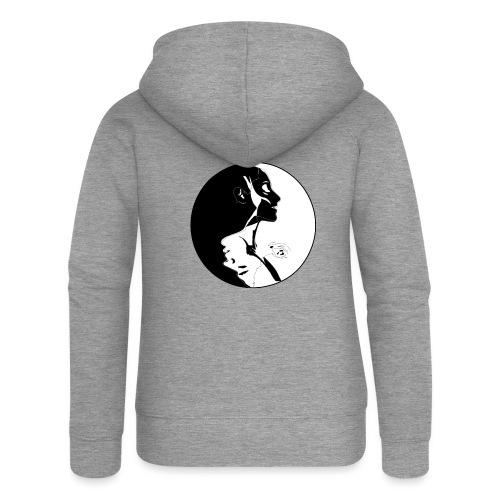 yang yin - Rozpinana bluza damska z kapturem Premium