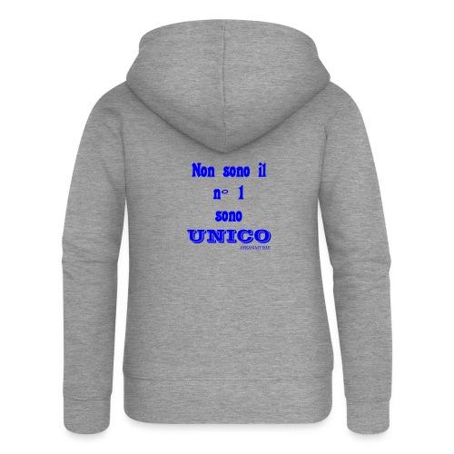 Unico #FRASIMTIME - Felpa con zip premium da donna