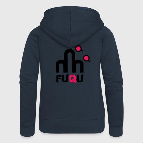 T-shirt FUQU logo colore nero - Felpa con zip premium da donna