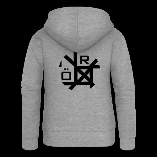 Nörthstat Group™ TecH | iCon - WHT.Knapsack - Women's Premium Hooded Jacket