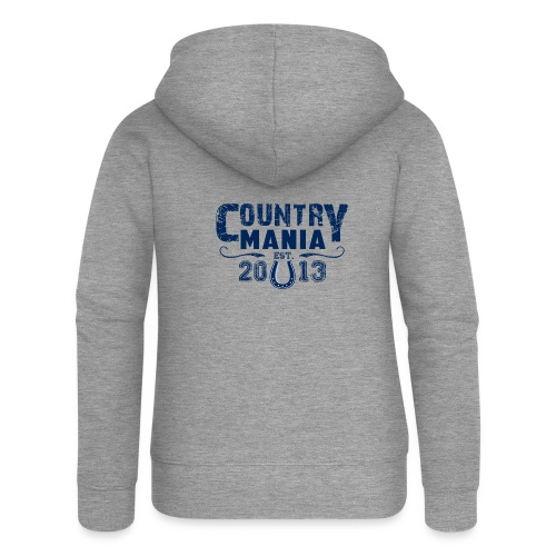 Country Mania - Established 2013 - Felpa con zip premium da donna