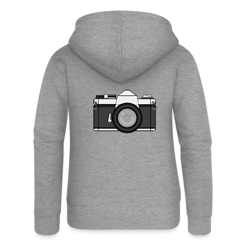 Shot Your Photo - Felpa con zip premium da donna
