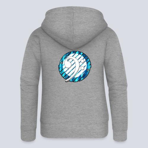 BassClef blue/white - Women's Premium Hooded Jacket