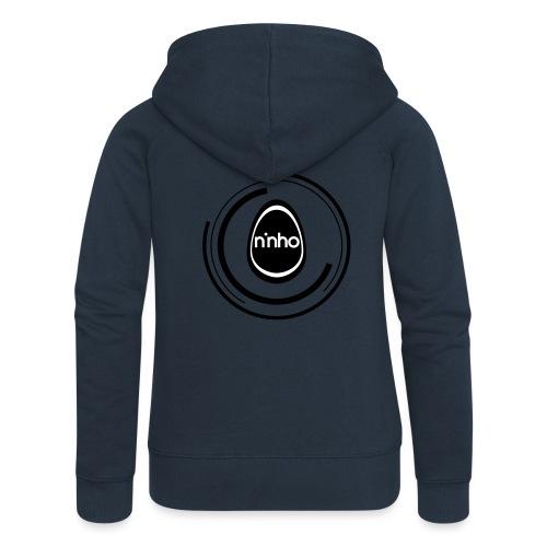 ninho-circle - Felpa con zip premium da donna