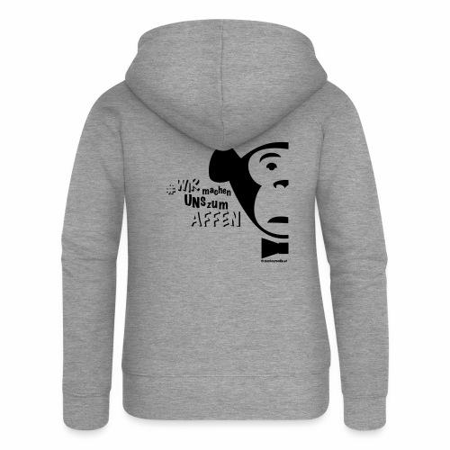 #WIRmachenUNSzumAFFEN - Frauen Premium Kapuzenjacke